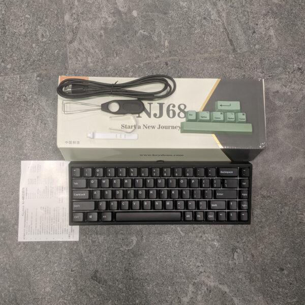 Bàn phím cơ Keydous NJ68 (Kalih Box Switch) - Bluetooth / RGB / Hotswap / PBT Doubleshot